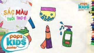 Sắc Màu Tuổi Thơ - Tập 45 - Bé Tập Vẽ Đồ Trang Điểm | How To Draw Toy Lips With Makeup Set