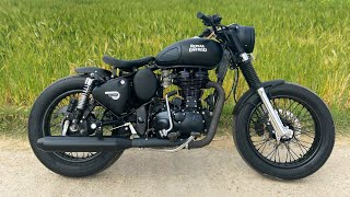 Royal Enfield Modifications |Bullet Modifications|custom motorcycle | Bullet Tower sikar