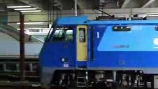 EH200-3+米タン 青梅線拝島駅での連結と走行シーン / Freight train