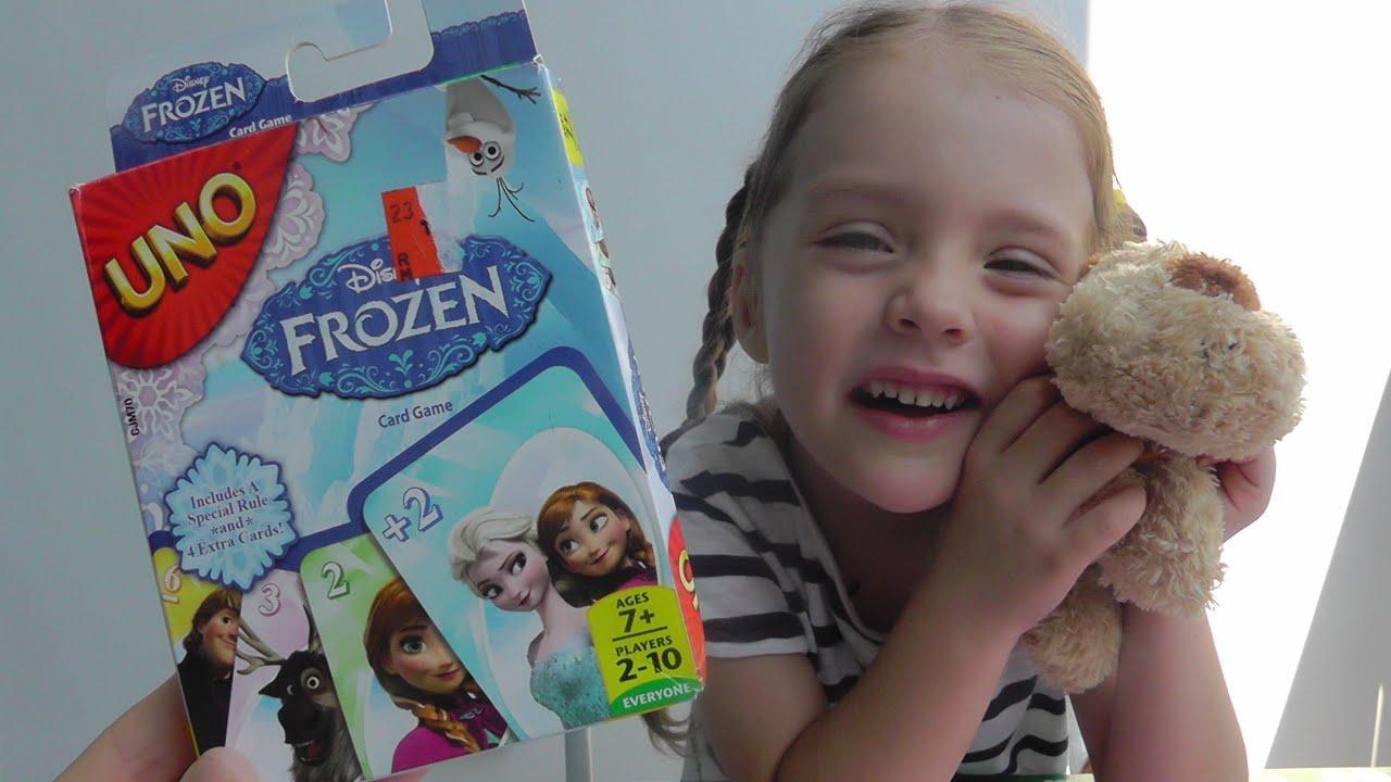 UNO Frozen детская карточная игра УНО Фроузен Дисней Сhildren's .