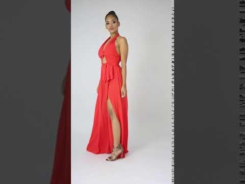 Eris Slit Runway Maxi Dress