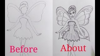 DRAWING A FAIRY EASILY STEP BY STEP|| # DRAWING