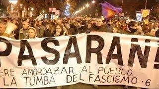 """مظاهرة ضد قانون """"التظاهر"""" الجديد في إسبانيا تنتهي بصدامات"""