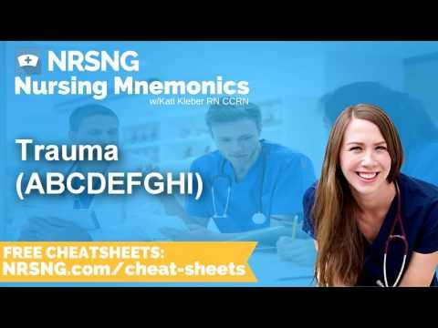 Trauma ABCDEFGHI Nursing Mnemonics, Nursing School Study Tips