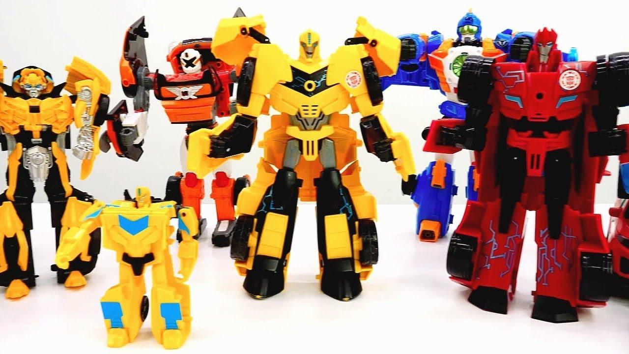 Собираем роботов Трансформеров! - Игры для мальчиков с машинками.