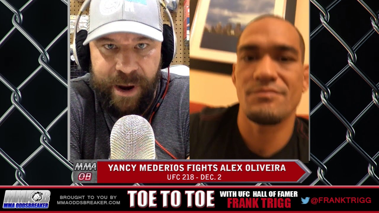Frank Trigg pre-fight interview with UFC 218's Yancy Medeiros