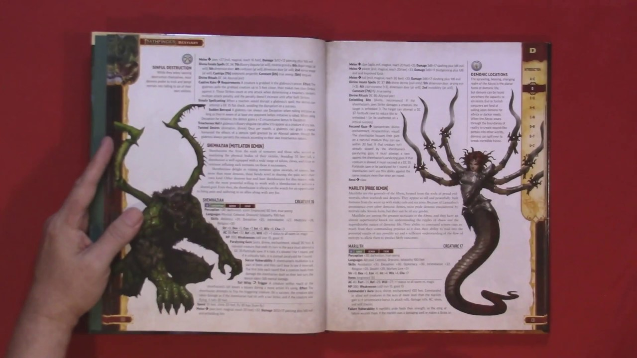 Pathfinder Second Edition Bestiary - Review and Page Through