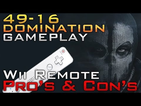 Ghosts: Wii Remote Pros And Cons (49-16 Nintendo Wii U Cod Ghosts Gameplay)