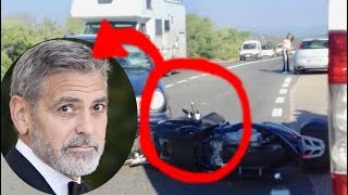 George Clooney injured in a motorcycle accident 2018 batman star