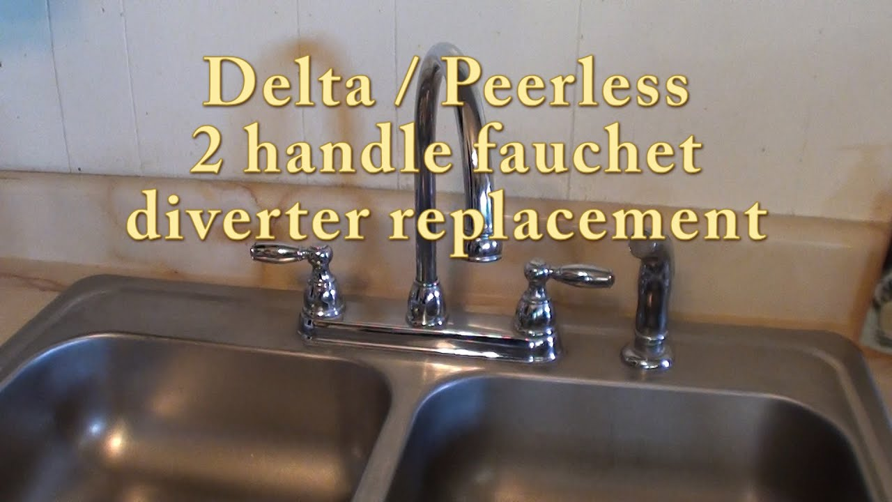 Delta / Peerless 2 handle faucet diverter replacement. RP41702 - YouTube