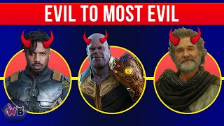 Marvel Cinematic Universe Villains: Evil to Most Evil