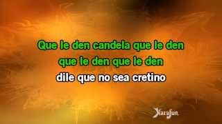 Karaoke Que le den candela - Celia Cruz *