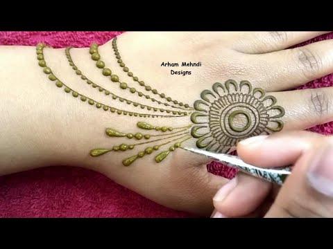 New Simple and Stylish Jewellry Mehndi Design || Arham Mehndi Designs thumbnail