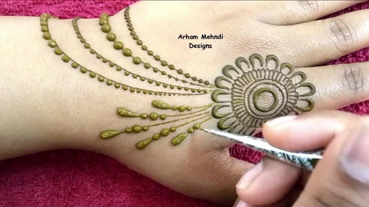 stylish simple new mehndi design