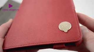 Чехол футляр-книга OZAKI для iPad mini красный серный бежевый