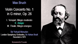 Bruch Violin Concerto No. 1 in G minor, Op. 26; Menuhin, London SO, Boult
