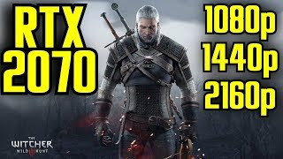 The Witcher 3 RTX 2070 OC | 1080p - 1440p & (4K) 2160p | FRAME-RATE TEST