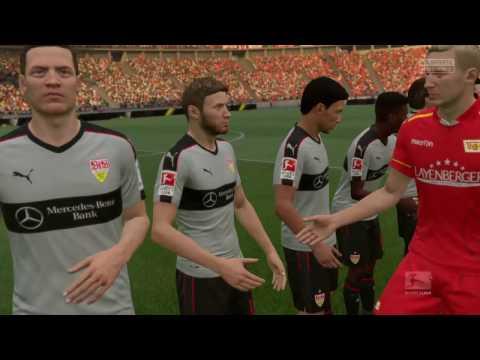 FIFA 17, PS4 | Union Berlin - VfB Stuttgart (CPU-simulatie) (1-0) (Duits commentaar)