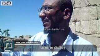 بالفيديو| وزير الآثار يفتتح معبد