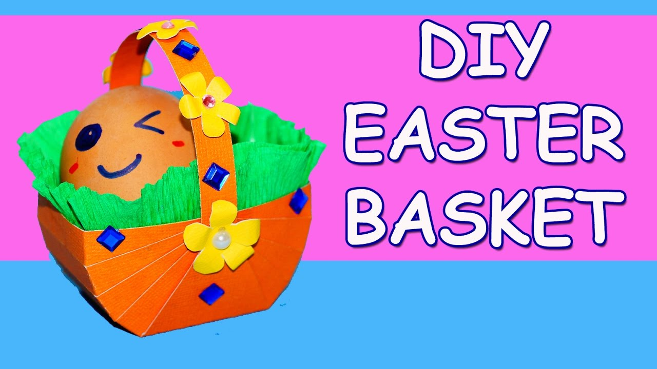DIY Paper Crafts Easter How To Make Basket Ideas Julia