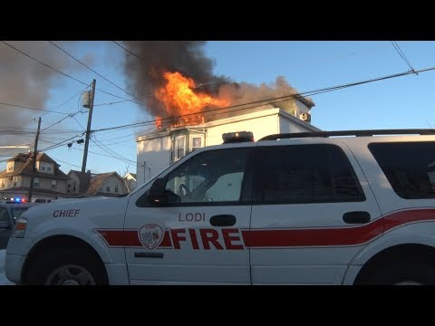Lodi,NJ Fire Department 3rd Alarm 1/10/18