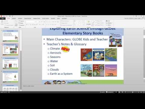 GLOBE Mission EARTH WEBINAR #8 / Getting Elementary Students Involved with GLOBE