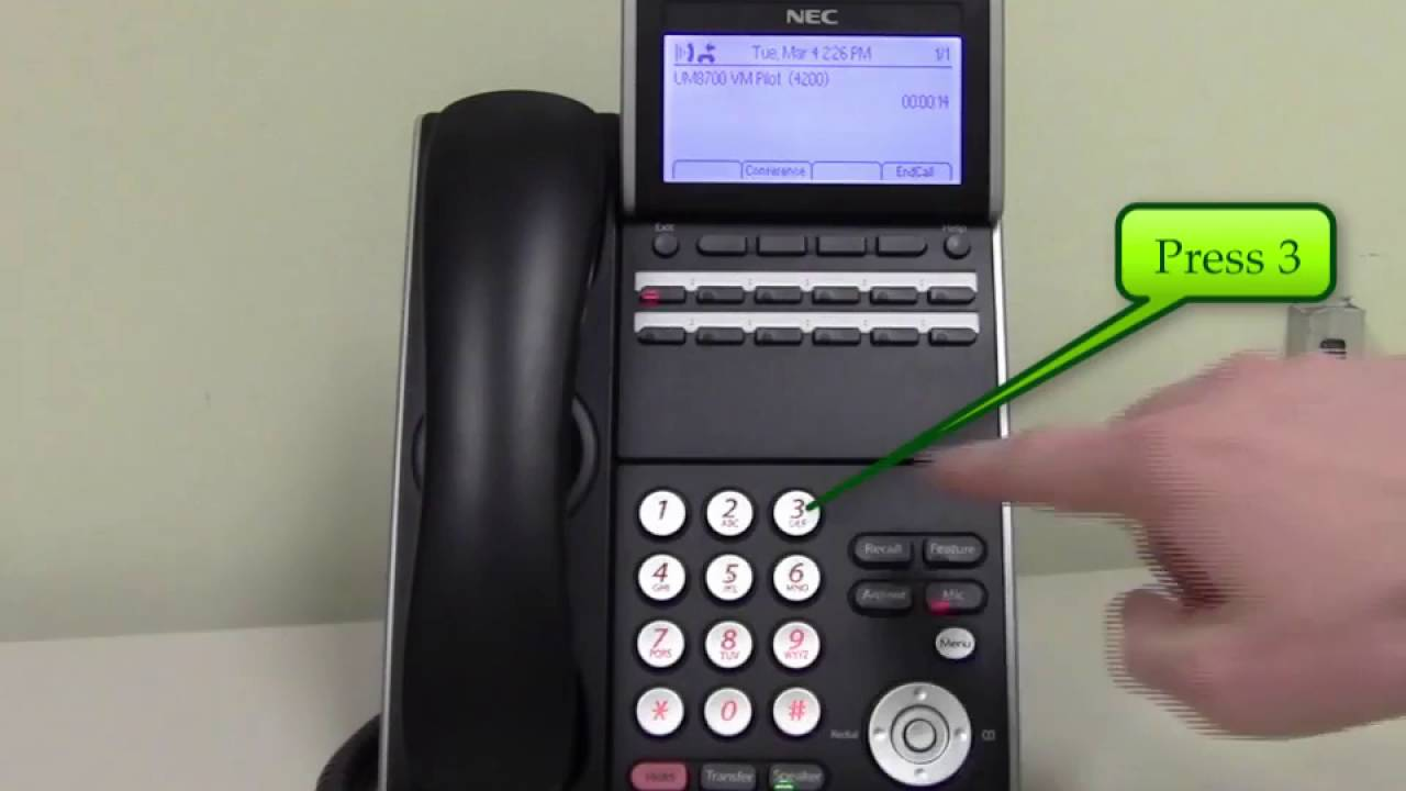 NEC VoIP Phones - Voicemail Security Code