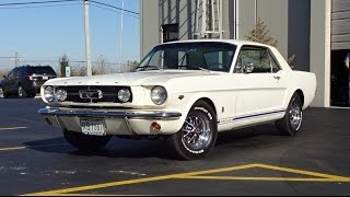 1965 Ford Mustang GT Coupe in White Paint & Engine Sound on My Car Story with Lou Costabile