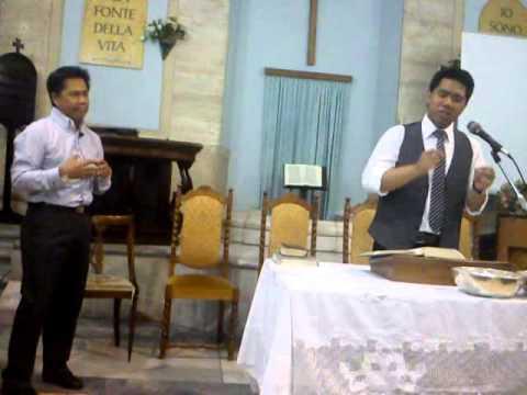 Sermon Done By Pastor Boris-Jordan Flores @Rome, Italy