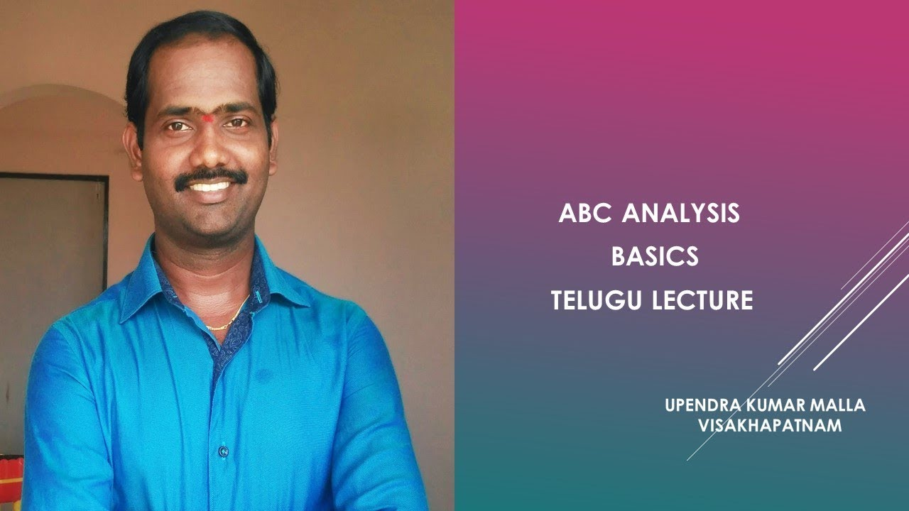 ABC Analysis Basics Telugu Lecture