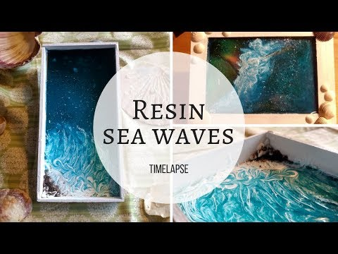 Making Sea Waves with Resin (Timelapse)