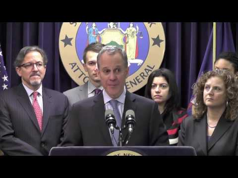 Attorney General Eric Schneiderman filed a lawsuit against Domino's alleging staff are paid low wages.