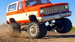 BOOSTED CHEVY K5 Blazer 4x4 RC Truck 6s Lipo Pulls JUDGE RC ADVENTURES