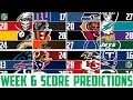 NFL Week 6 SCORE PREDICTIONS 2018 - NFL Picks Against the Spread WEEK 6 (NFL BETTING)