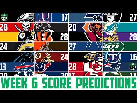 NFL Week 6 SCORE PREDICTIONS 2018 - NFL Picks Against the Spread WEEK 6 (NFL BETTING)