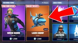 Fortnite NEW Legendary Laser Chomp & Epic Scuba Diver Skins!! (Fortnite Battle Royale)