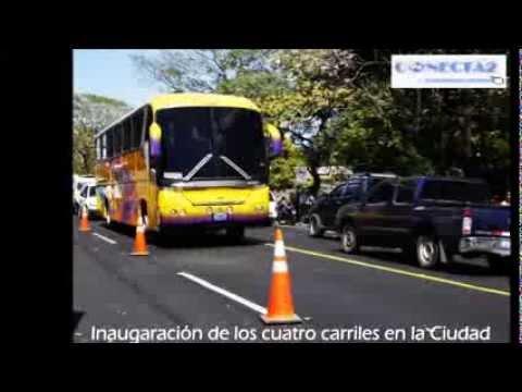 Inauguración de cuatro carriles en San Miguel