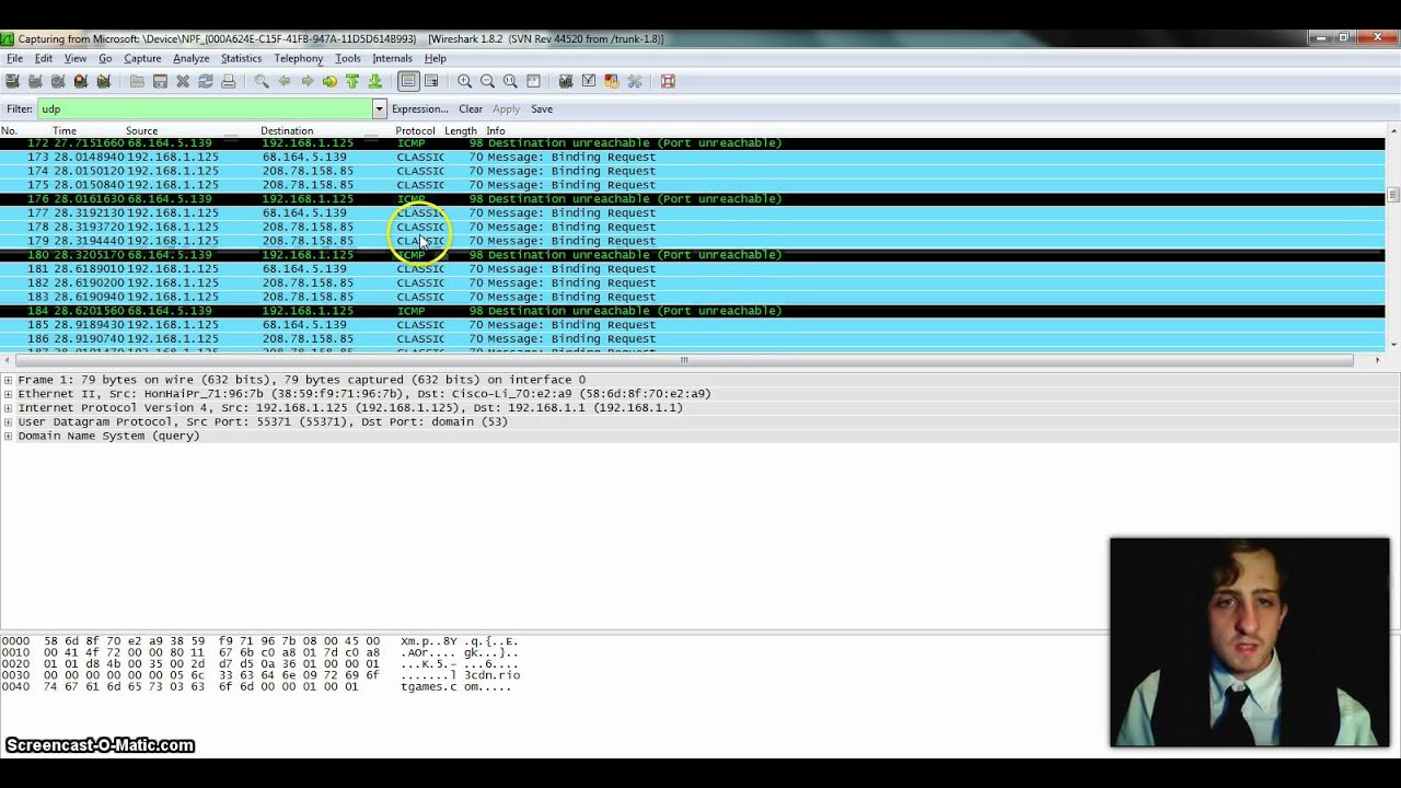 Student Uses Wireshark to Analyze Data from League of Legends Online Game