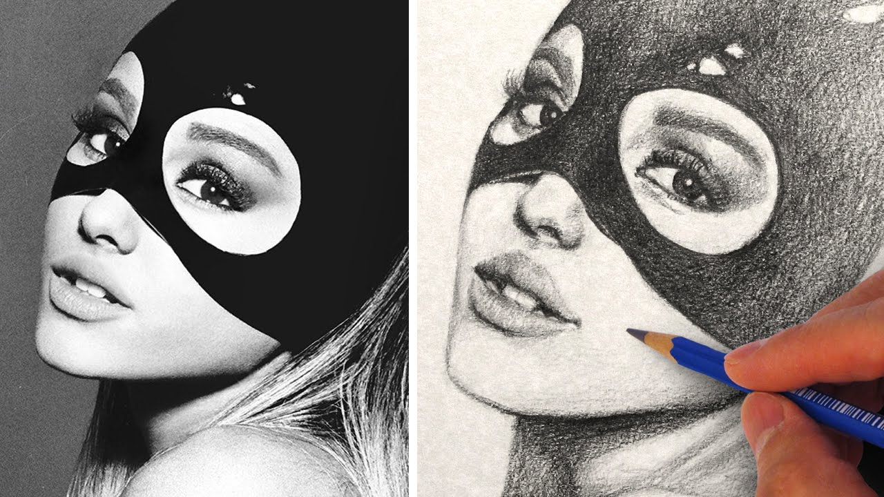 How To Draw Ariana Grande With Pencil