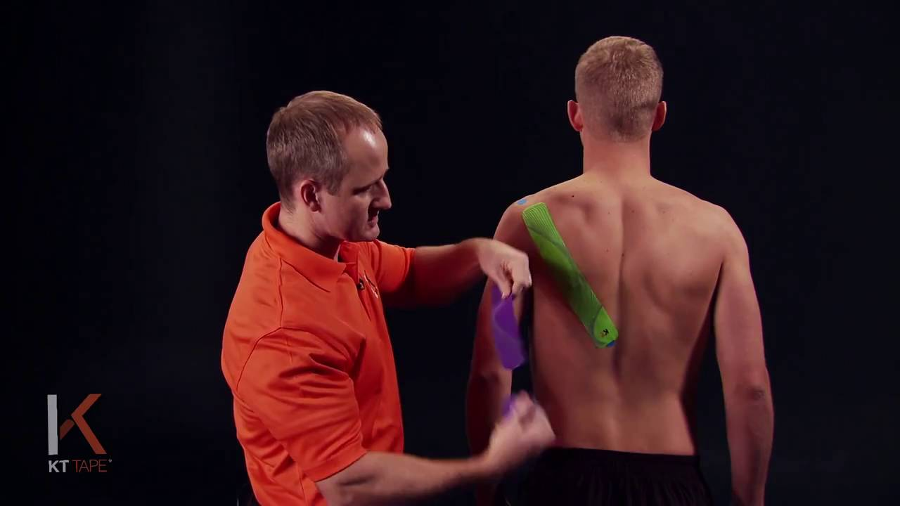 Kt Tape Kinesiology Taping Instructions For Shoulder Stability