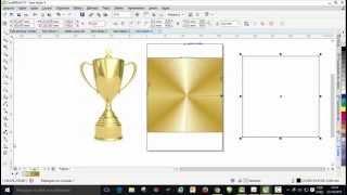 Como Criar e salvar grandiente dourado, ouro no Coreldraw X7