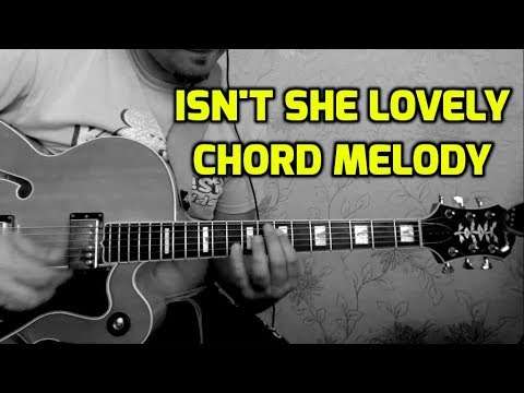 isn\'t she lovely chord melody - YouTube