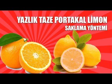 Yazlık Taze Limonatalık Portakal Limon Saklama Yöntemi