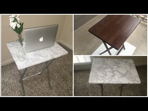 DIY MARBLE TABLE $20 | *NEW HOME DECOR SERIES* PT 1
