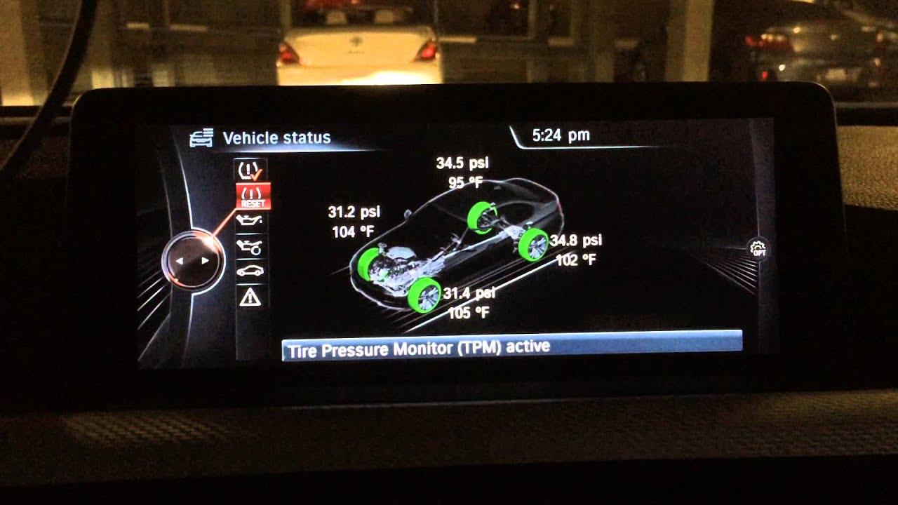 Bmw F30 2014 335i Tire Temperature In Tpms Display Bmw