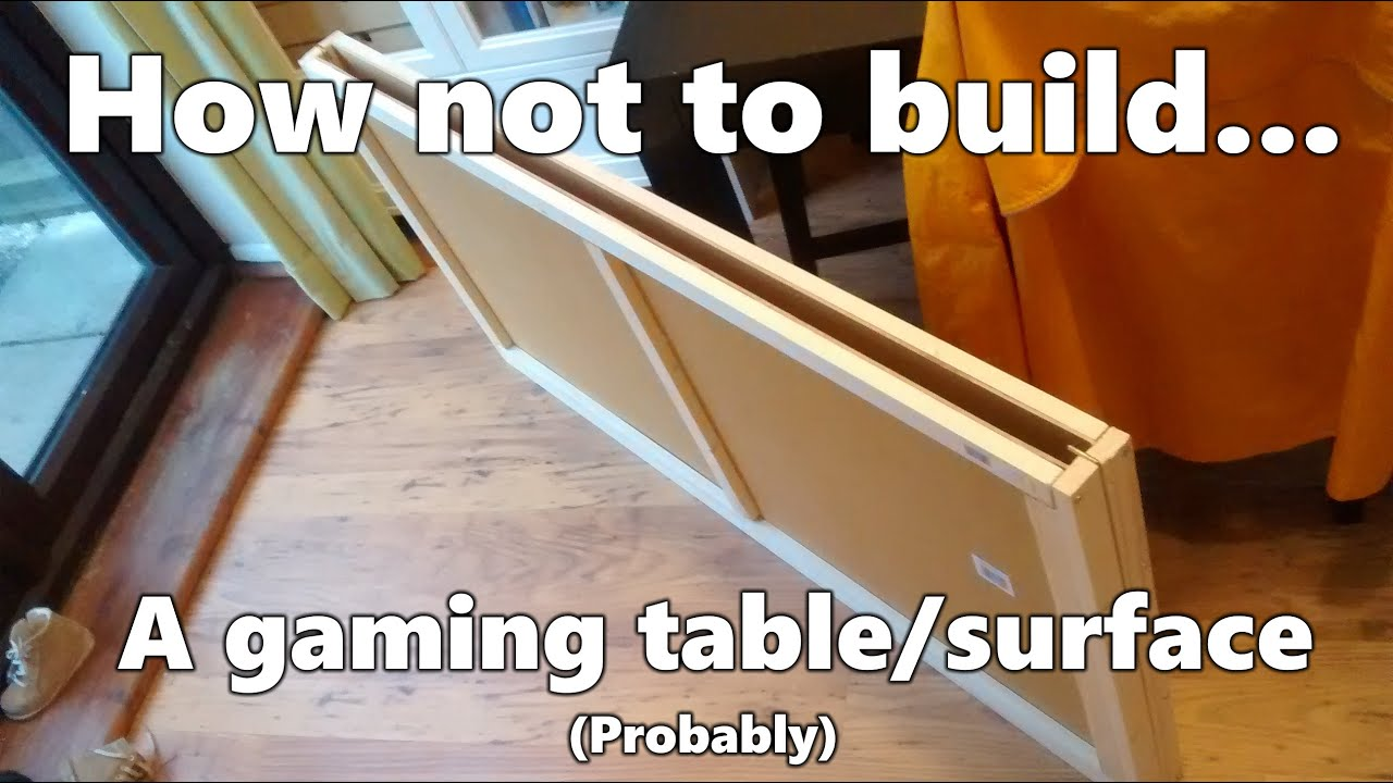 diy folding 4x4ft gaming table surface work in progress youtube