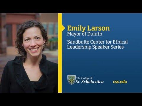 Sandbulte Center for Ethical Leadership Speaker Series: Emily Larson