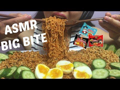 ASMR Korean Fire Noodles + Nuclear X2 + Cold Ice Noodles (BIG BITE NO TALKING) No Talking | SAS-ASMR