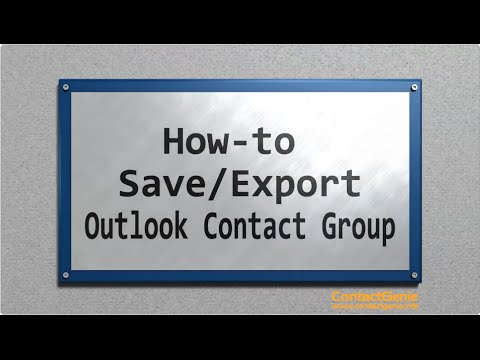 How to save an Outlook contact group