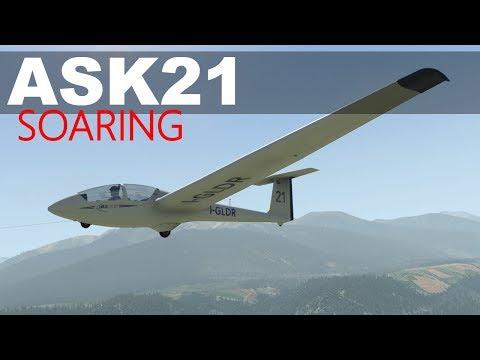 X-plane 11 -Native VR -ASK21 Sailplane Austrian Alps -part 2 LOXA-LOGT